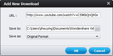 Add YouTube URL